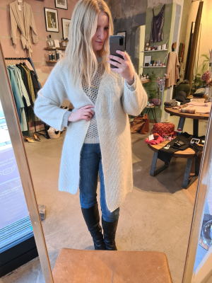 Chunky long cardigan