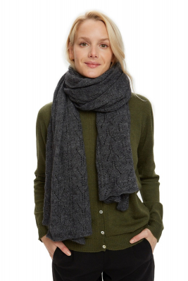 Touch scarf dark grey